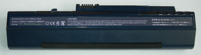 Acer Aspire One Аккумулятор для ноутбука (A110, A150, AOA110, AOA150, AOA250, AOD150,ZG5) 4400 mah (Blue)