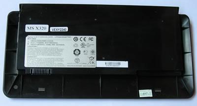 MSI Аккумулятор для ноутбука (X320, X340, X350, X360, X400, X410, X420, X430, X620) 4300mah (Black)