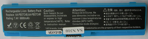 Samsung Аккумулятор для ноутбука (N310, NP310) 6600mah (Blue)