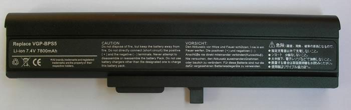 Sony Vaio Аккумулятор для ноутбука (BPS5, BPL5) 7800mah (Black)