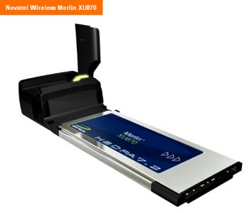 Novatel Wireless Merlin XU870 3G ExpressCard модем GSM