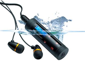 МР3-плеер NU Dolphin Touch 4GB (Водонепроницаемый) + комплект наушников водонепроницаемых