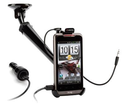 Griffin WindowSeat Mobile HandsFree Car Kit (GC17116) Автомобильный держатель с микрофоном и зарядкой