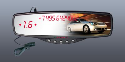 Bluetooth Зеркало заднего вида Mirofone Premium PRO(парктроник)