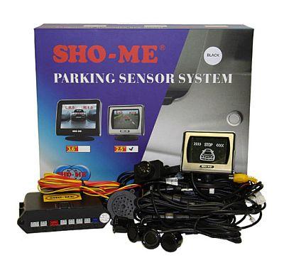 SHO-ME KDR-25 black парктроник с камерой заднего вида