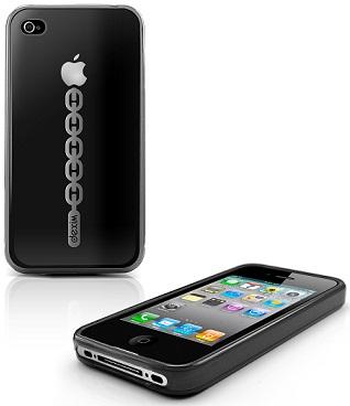 DEXIM Braceiet TPU чехол для iPhone 4S/4 чёрный