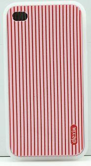 DEXIM чехол гибкий силиконовый для iPhone 4S/4 красный