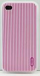 DEXIM чехол гибкий силиконовый для iPhone 4S/4 розовый