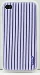 DEXIM чехол гибкий силиконовый для iPhone 4S/4 фиолетовый
