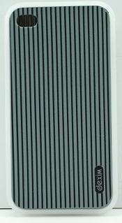 DEXIM чехол гибкий силиконовый для iPhone 4S/4 чёрный