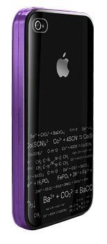 DEXIM чехол стильный жесткий для iPhone 4S/4 фиолетовый