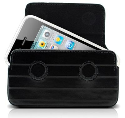 DEXIM чехол для iPhone 4S/4 из кожи ручной работы, черный