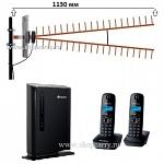 Комплект ShopCarry SIM SOHO PRO VIP стационарный сотовый радио DECT телефон GSM/4G/3G WIFI роутер c широкополосной антенной