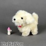 Игрушка Интерактивный щенок Микки на бат., озвуч., с бутылоч., в подар. кор. 16,5x9x16,5см. Играем Вместе