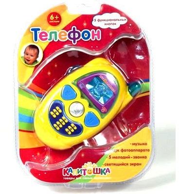 """Игрушка развивающая &quotТелефон"""", цвет в ассорт., свет+звук., на блистере, в русс. кор. УМКА"""
