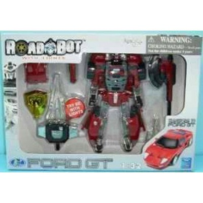 Игрушка Робот-трансформер Happy Well Ford GT, 1:32, свет