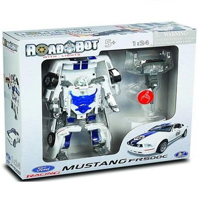 Игрушка Робот-трансформер Ford Mustang FR500C, 1:24, свет