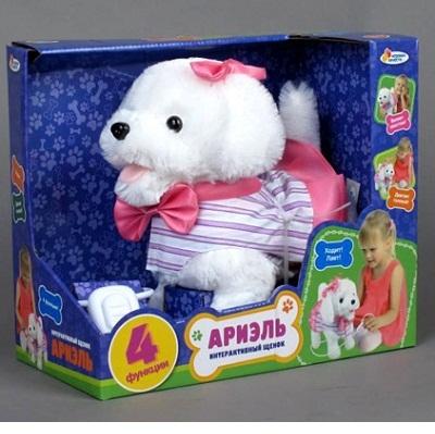 """Игрушка Интерактивный щенок &quotАриэль"""" на пульте-поводке, 4 функции, в подар. кор. Играем Вместе"""