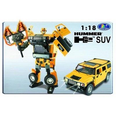 Игрушка Робот-трансформер HUMMER 1:18, свет, звук