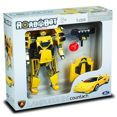 Игрушка Робот-трансформер Lamborghini Countach, 1:24, свет