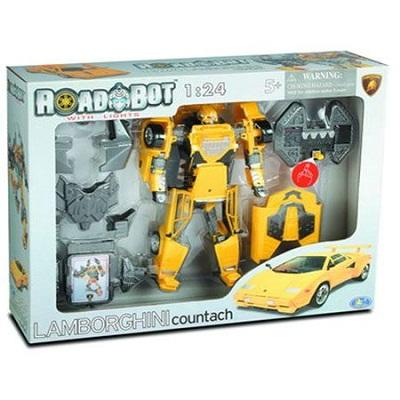 Игрушка Робот-трансформер Happy Well Lamborghini Countach, 1:24, свет