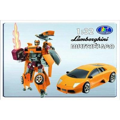 Игрушка Робот-трансформер Happy Well Lamborghini Murcielago 1:32, свет