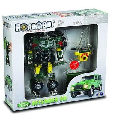 Игрушка Робот-трансформер Land-Rover Defender 90, 1:24, свет