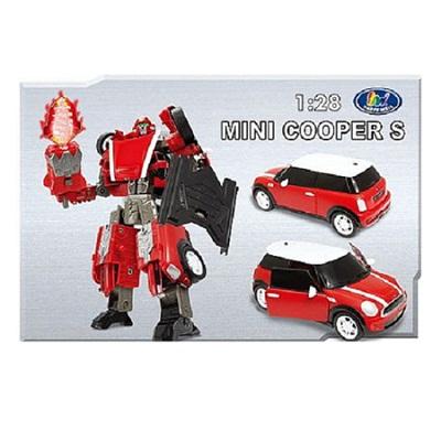 Игрушка Робот-трансформер Mini Cooper, 1:28, свет