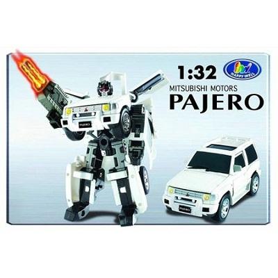 Игрушка Робот-трансформер Mitsubishi Pajero,1:32, свет