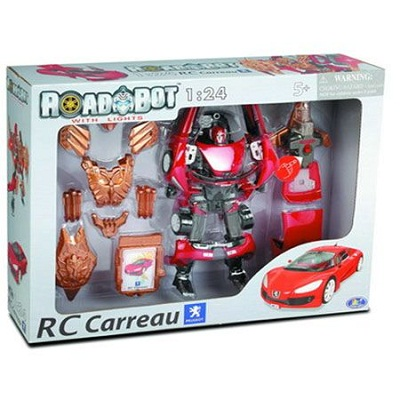 Игрушка Робот-трансформер Peugeot Concept Car RC Carreau, 1:24, свет