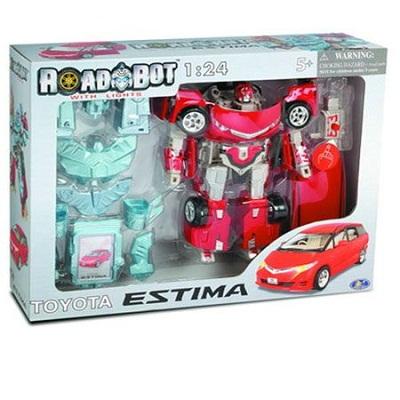 Игрушка Робот-трансформер Toyota ESTIMA, 1:24, свет