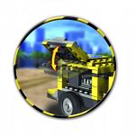 Конструктор пластмассовый COBI Экскаватор-погрузчик,300 дет.(Action Town)