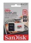 Sandisk Ultra microSDHC Class 10 UHS Class 1 30MB/s 16GB + SD adapter карты памяти microsd купить объем памяти 16 ГБ