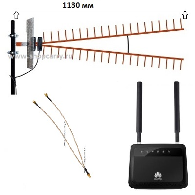 Роутер 4g с антенной широкополосной направленной купить универсальный HUAWEI B880-75 4G 3G LTE WiFi
