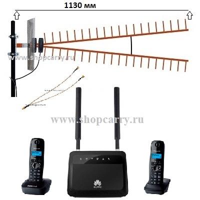 стационарный сотовый радио DECT телефон GSM/4G/3G WIFI купить Комплект ShopCarry SIM SOHO PRO VIP880 роутер c широкополосной антенной