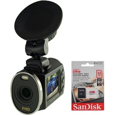 Автомобильный видеорегистратор Видеосвидетель 3505 FHD с картой памяти 32GB купить в интернет магазине
