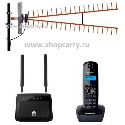 Комплект ShopCarry SIM SOHO PRO 11 VIP880 стационарный сотовый радио DECT телефон одна трубка GSM/4G/3G WIFI роутер c широкополосной антенной купить
