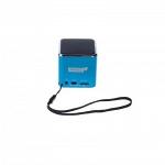 Partner Cube Мультимедийная колонка синяя купить синяяс питанием от аккумуляторной батареи позволяет воспроизводить музыку с карт памяти microSD, USB-флешек, с аудиовхода 3,5мм а также FM-радио