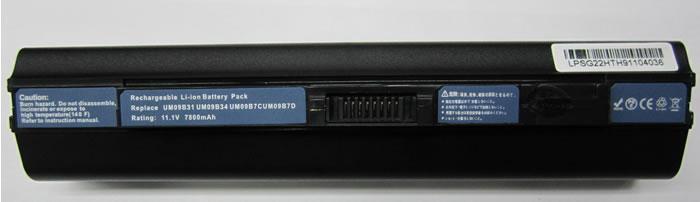 Acer Aspire One Аккумулятор для ноутбука (AO751, AO751h, ZA3, ZG8,  AO531) 7800 mah (Black)