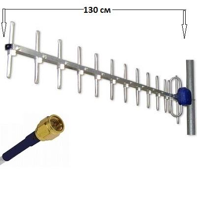 МИР GSM-900 / 14 Разъем SMA кабель 10 м. Антенна внешняя направленная стационарная (GSM 900)
