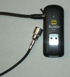 ZTE MF170 3G USB GSM модем с переходником на внешнюю антенну (универсальный)