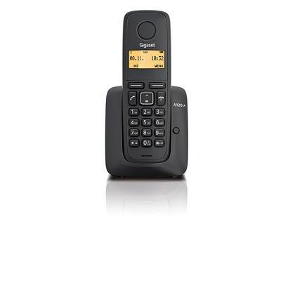 Gigaset A120A радиотелефон черный автоответчик ECO DECT