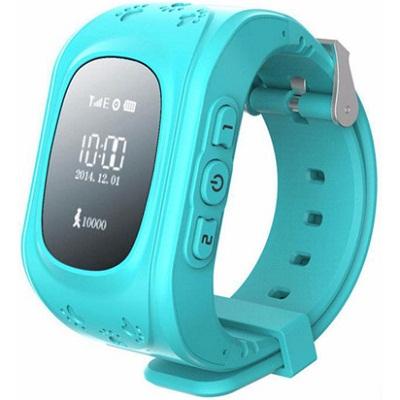 Кнопка жизни K911 Детские часы-телефон с GPS трекером (голубые)