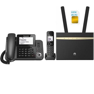 Комплект SHOPCARRY SIM Pro 525 стационарный сотовый телефон 4G 3G с радиотрубкой