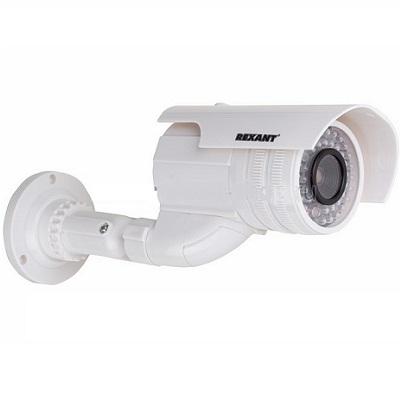 REXANT Муляж камеры уличной цилиндрическая белая