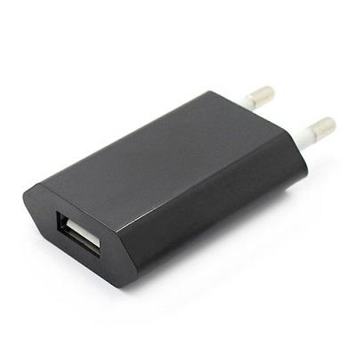 Сетевое зарядное устройство USB (СЗУ) (1 000mA) черное