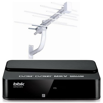 BBK SMP001HDT2 Ресивер DVB-T2 с наружной антенной