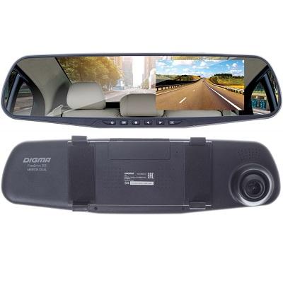 Digma FreeDrive 303 MIRROR DUAL Зеркало заднего вида с видеорегистратором и с 2-мя камерами