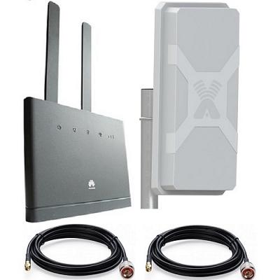 Huawei B310s-22 с антенной MIMO WIFI LTE-A + кабель 2 х10 м панельной направленной LTE Cat4 WIFI роутер универсальный
