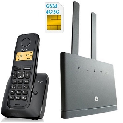 Комплект SHOPCARRY SIM 315-1 стационарный сотовый радио DECT телефон GSM/4G/3G WIFI и роутер универсальный купить 4G роутер Huawei B315 универсальный работает со всеми операторами сети и Panasonic